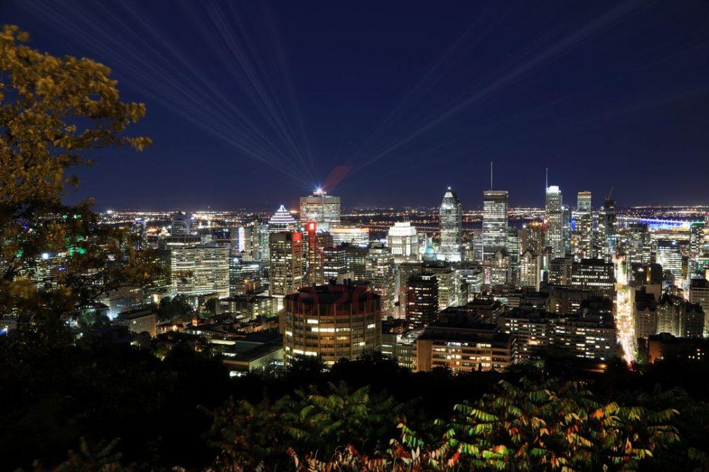 Montreal Blick vom Mount Royal am Abend / Foto: Oliver Asmussen/oceanliner-pictures.com