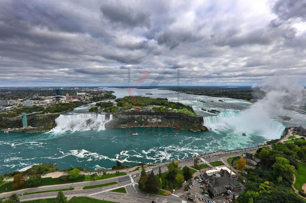 Niagarafälle und Niagara River vom Skylon Tower aus gesehen / Foto: Oliver Asmussen/oceanliner-pictures.com
