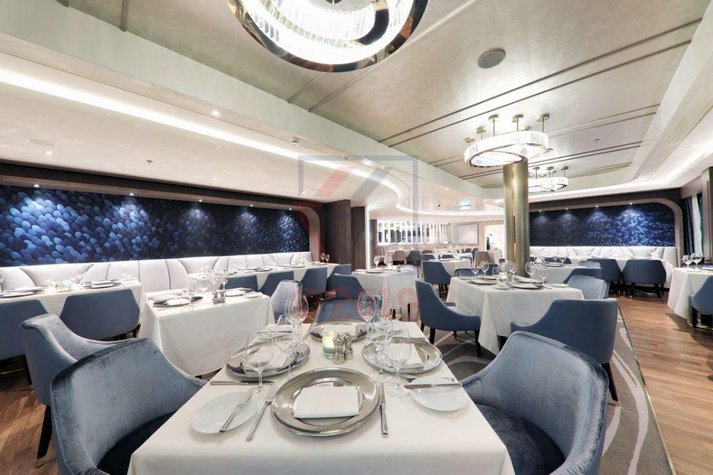 Ocean Blue Restaurant Norwegian Encore / Foto: Oliver Asmussen/oceanliner-pictures.com