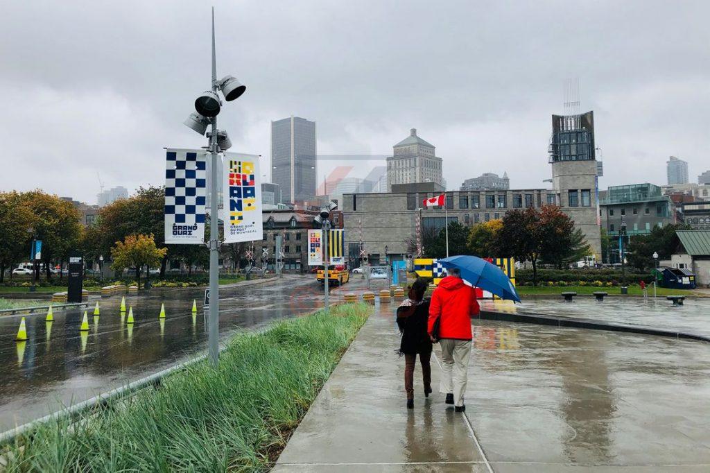 Regen und Sturm in Montreal am Cruise Terminal / Foto: Oliver Asmussen/oceanliner-pictures.com