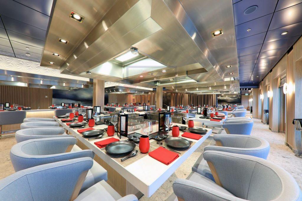 Teppanyaki Restaurant Norwegian Encore / Foto: Oliver Asmussen/oceanliner-pictures.com