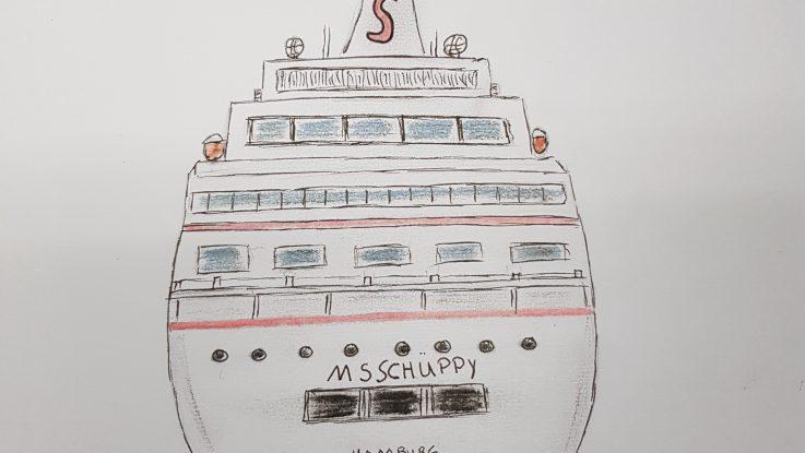MS Schüppy in der Werft