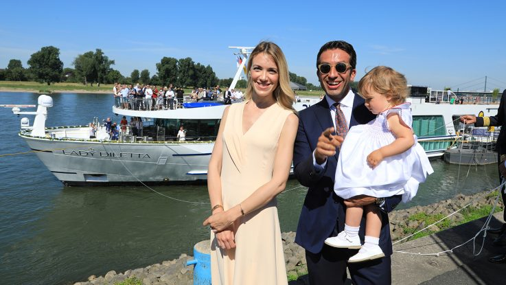 Cristina Ligabue, Inti Ligabue, Diletta Ligabue vor der Taufe / Foto: Oliver Asmussen